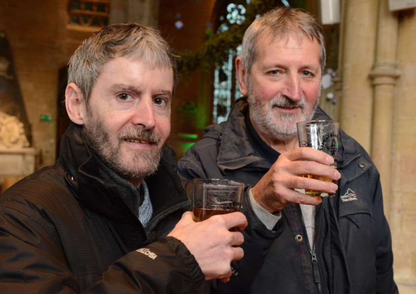 Land of Hops and Glory at St Wulfram's Church, Grantham. Pictured are Emlyn and Nigel Tasker