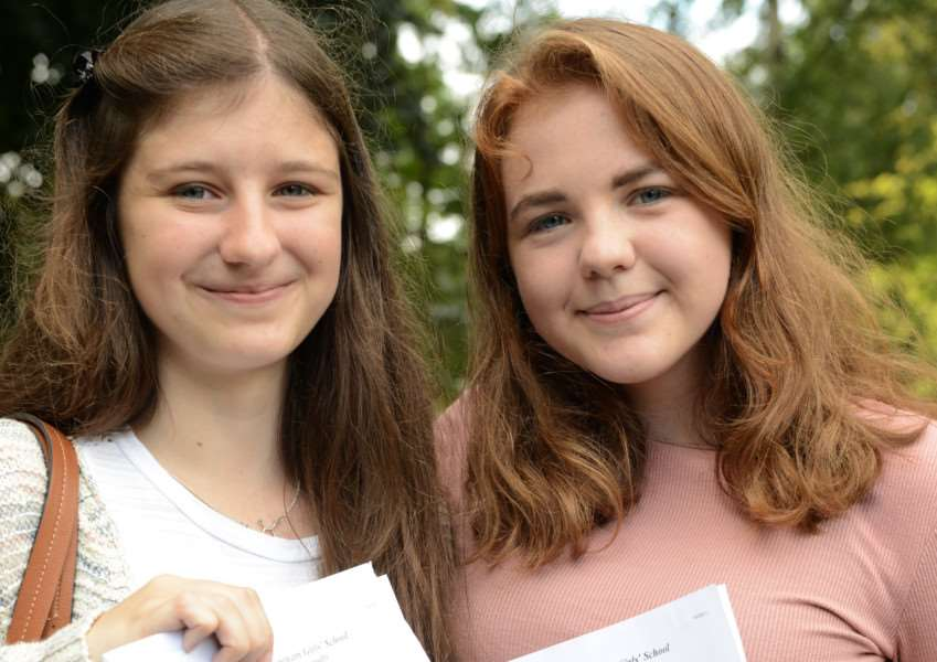 A-level results: Emma Turley and Lauren Shipman