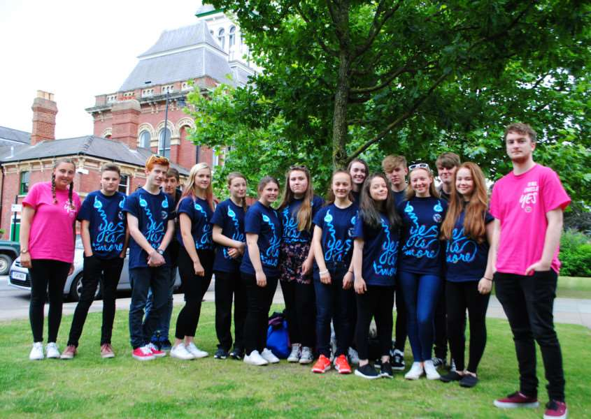 The group of Grantham youngsters who are fundraising as part of their National Citizen Service.