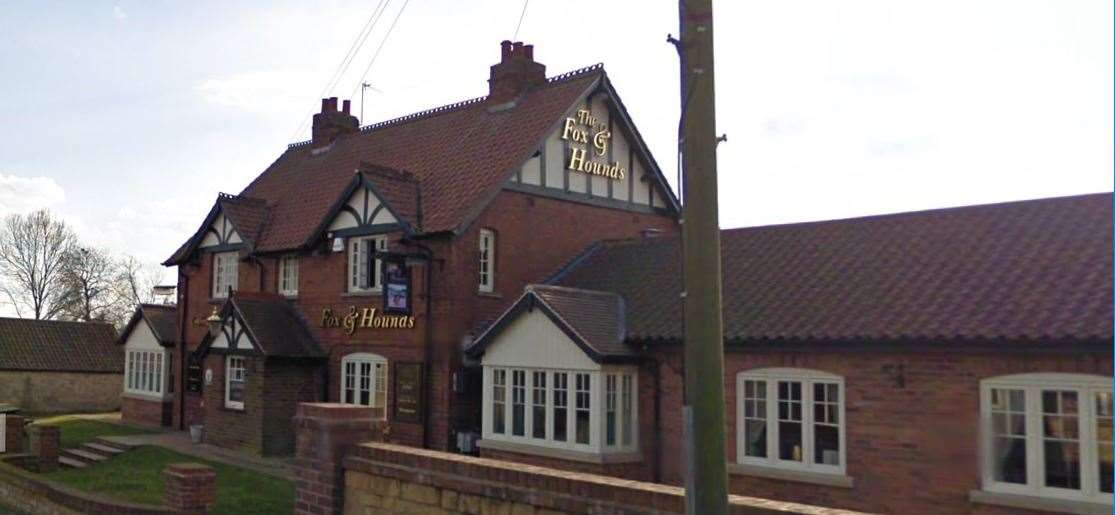 The Fox and Hounds at Old Somerby. (41803682)