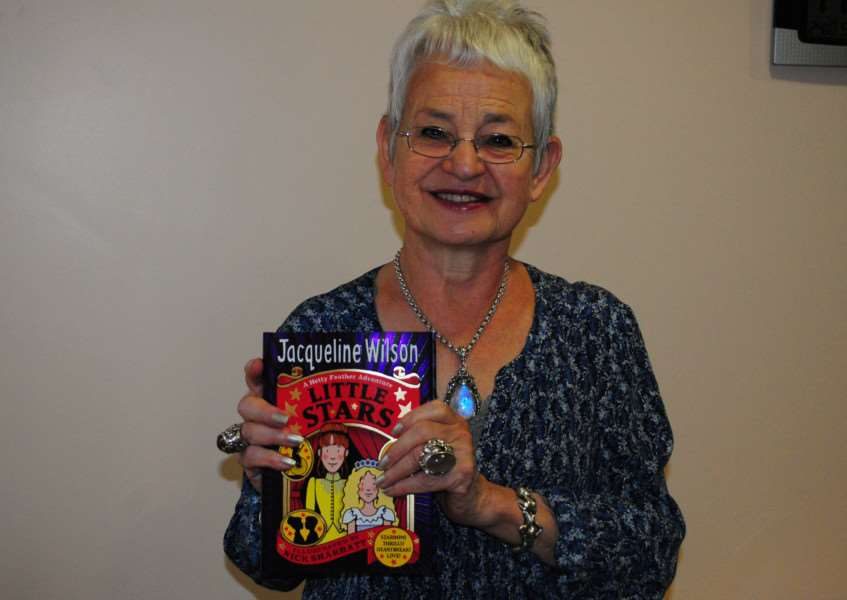 Author Jacqueline Wilson with her latest book 'Little Stars'.