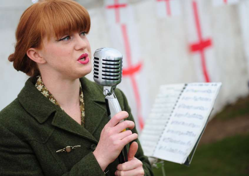 St George on the Green: Miss Sarah Jane performed in Ye Olde Tea Shoppe