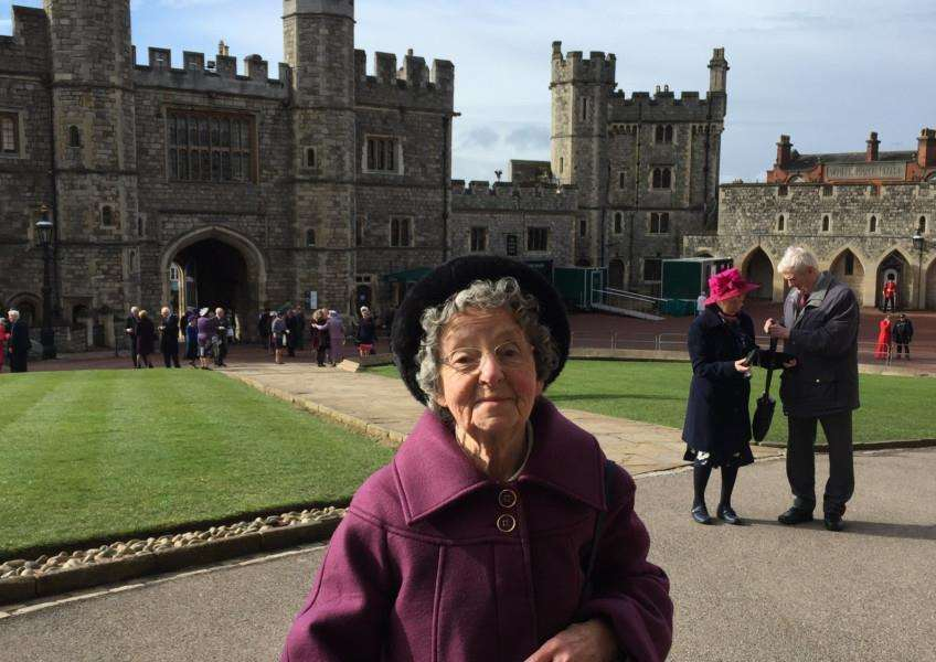 Enid Hewitt, attended Windsor Castle, where she received the Royal Maundy Money from Her Majesty The Queen.