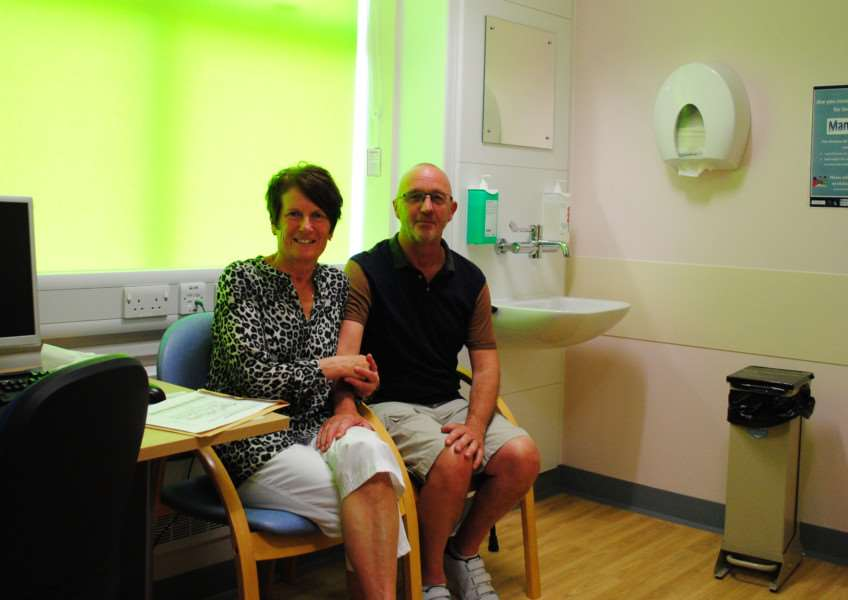 Arthur and Jackie Whatley in one of the consulting rooms at the Emerald Suite in Grantham Hospital.