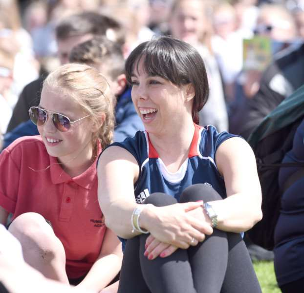 Olympic gymnast Beth Tweddle enjoys the Summer Cup at The Meres in Grantham.