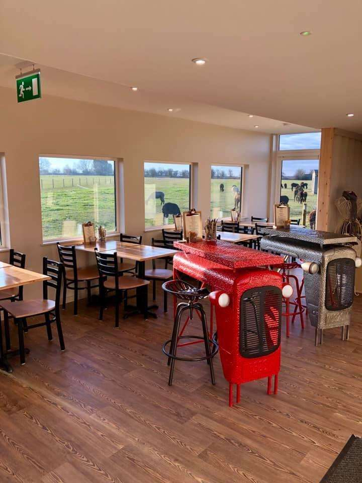 Visitors have a good view of the alpacas from the new cafe at the centre. (6330484)