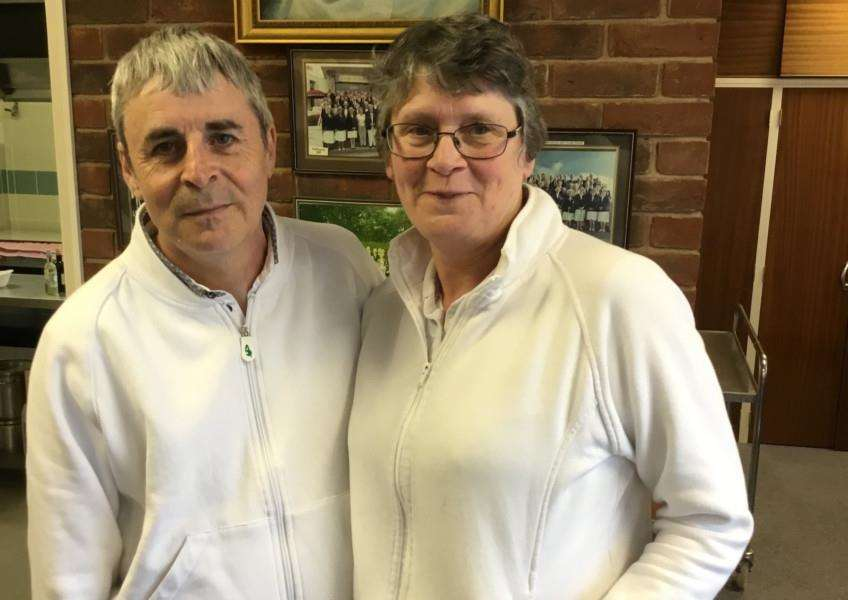 Australian Pairs runners-up Tony Sumner and Ruth Sumner.
