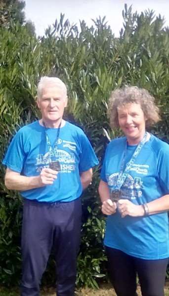 Paul Whitworth and Tina Schafer competed in this year's Great North Run for the second time, raising funds for St Barnabas Hospice.
