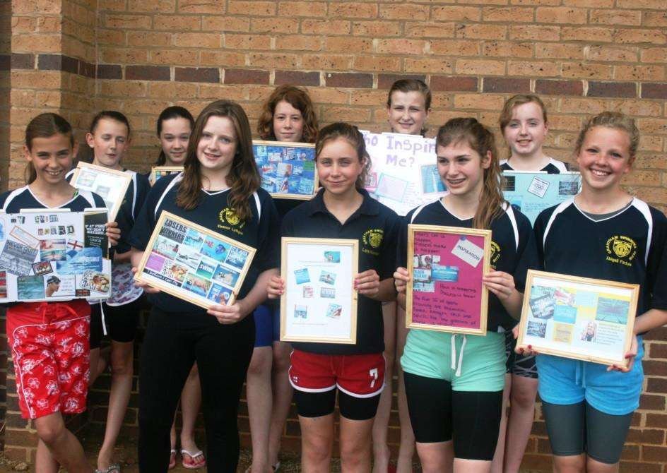 Grantham Swimming Club youngsters.