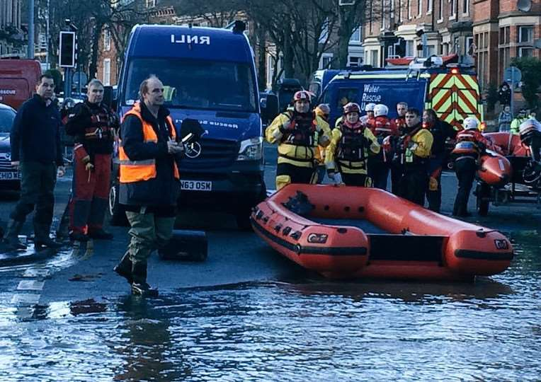 Firecrews from Sleaford, along with Boston and Gainsborough were mobilised to Carlisle in Cumbria on Friday after severe flooding. EMN-150712-172536001 EMN-150712-172536001