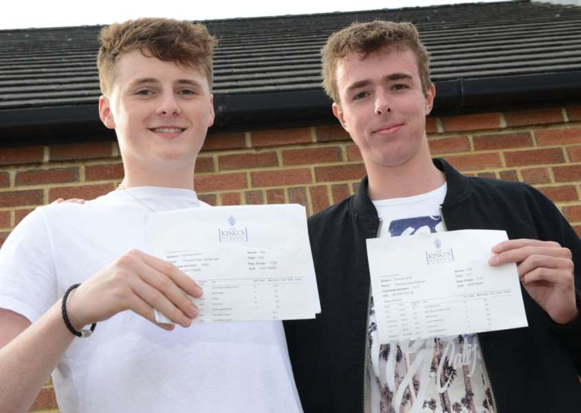 A levels, The King's School: Tom Isler and Tom Rutman