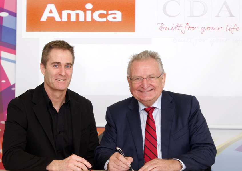 Ian Kershaw, CDA managing director, left, with Jacek Rutkowski, chief executive of Amica.