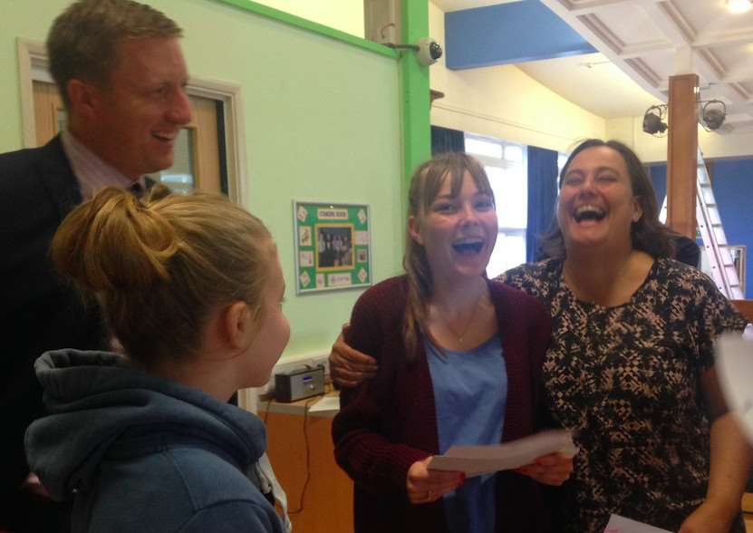 GCSE results are collected at Charles Read Academy in Corby Glen.