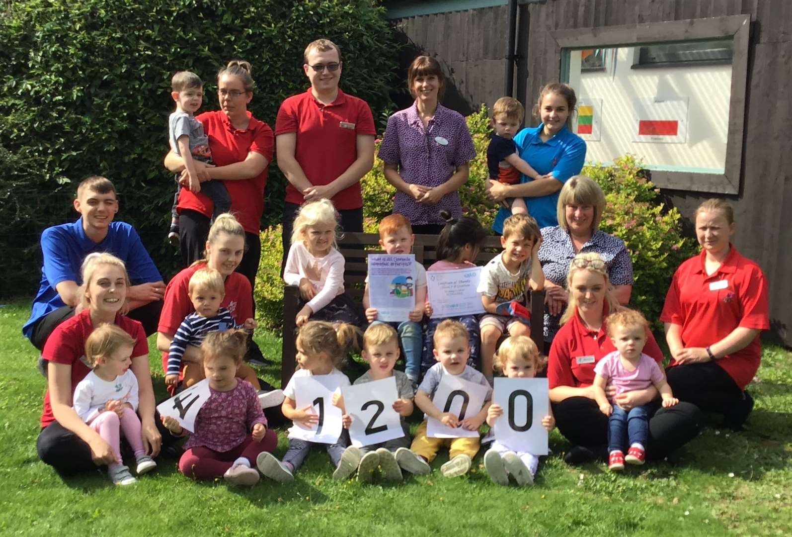 Children 1st Nursery have raised thousands for charity. (15658867)