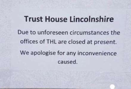 The sign on the door at Trust House Lincolnshire. (17044199)