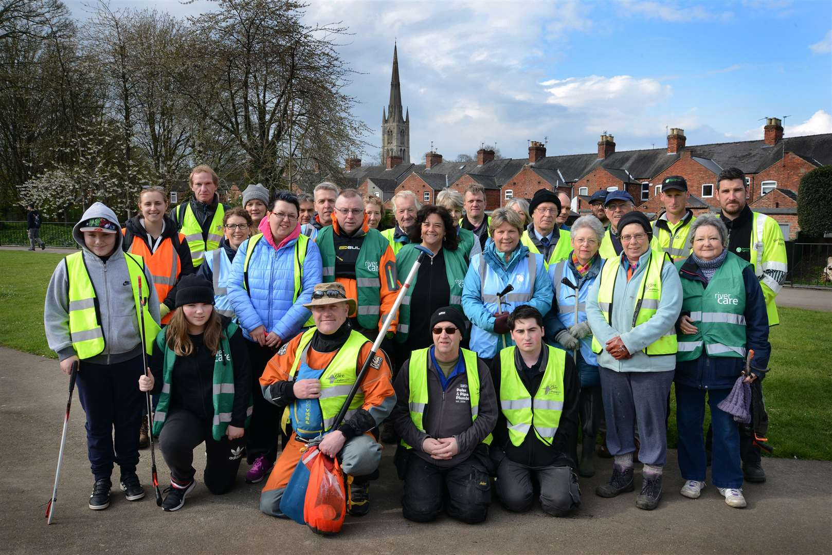 A total of 45 volunteers helped with the latest Rivercare clean-up of the Witham in Grantham. (8603040)