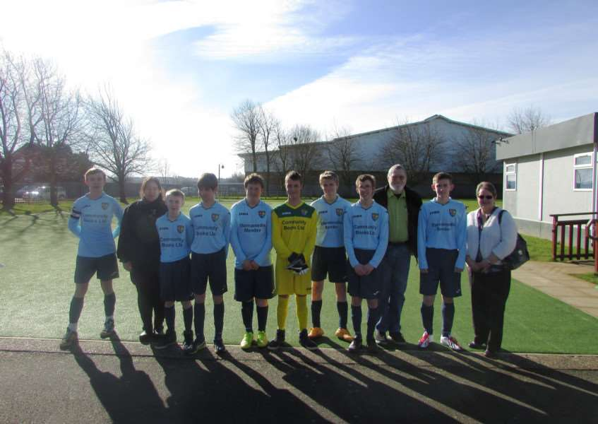 Ambergate's team with their sponsors.