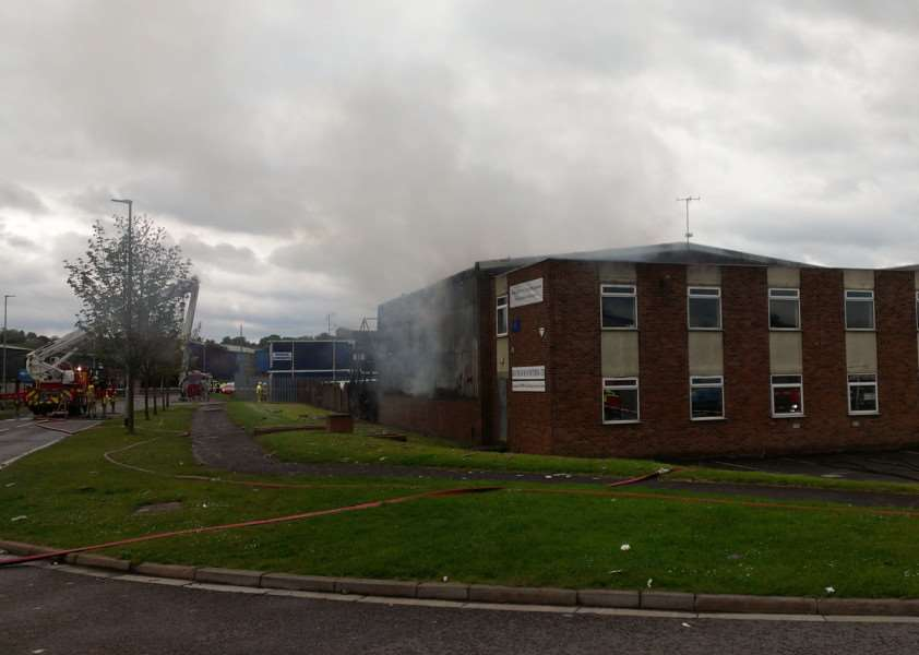 The warehouse at Grantham Manufacturing Ltd was completely destroyed.