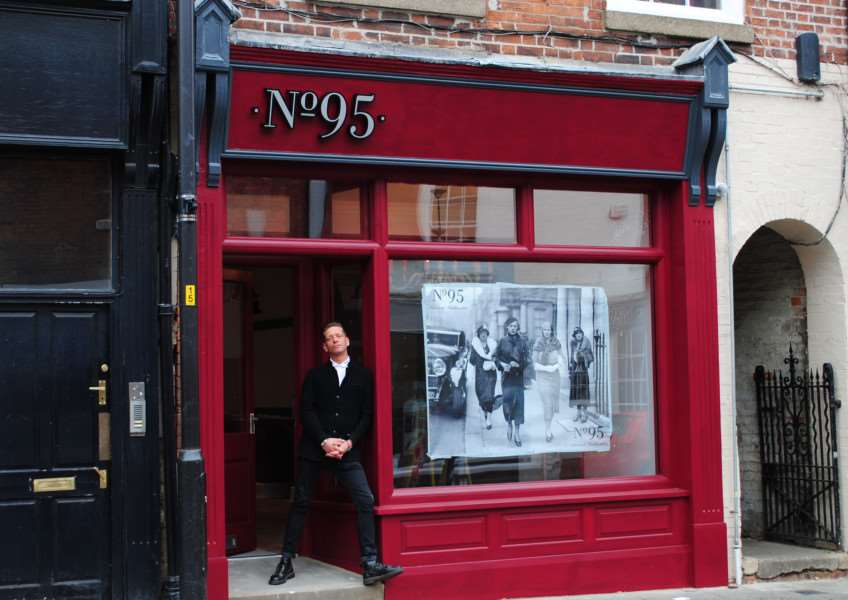 James Meadows outside No.95 Westgate.