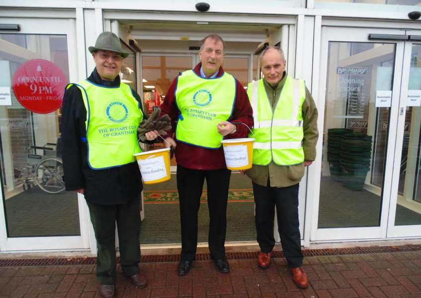 Rotarians collect donations for families affected by the floods in the north-west.