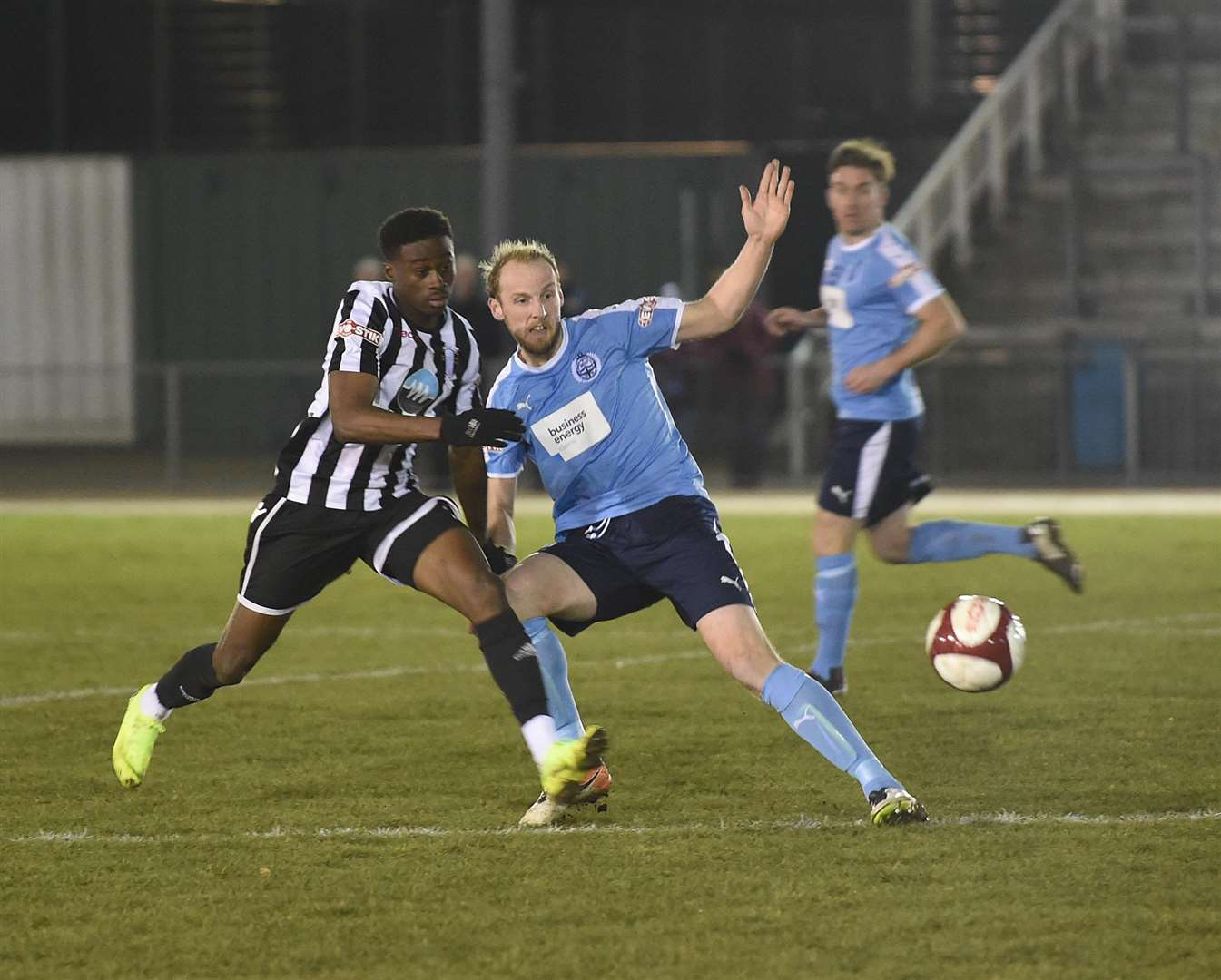 Jordan Adebayo-Smith hit the back of the net twice for Town on Tuesday night. Photo: Toby Roberts (7147374)