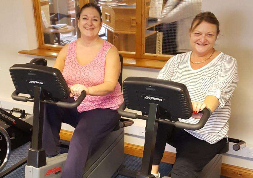 Julie North and Louise Cooper are in training for their Great Wall of China trek in October.