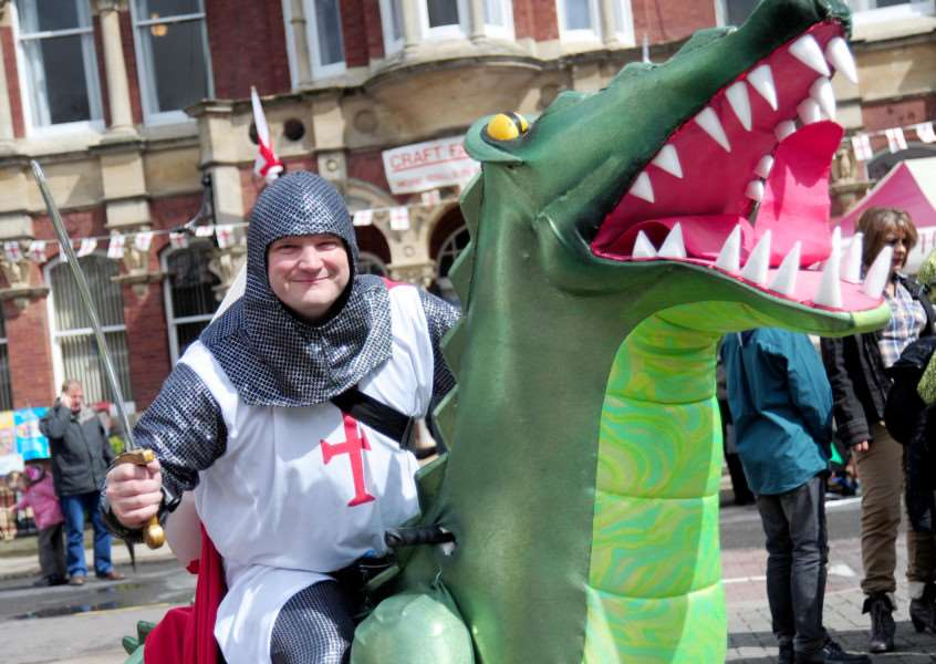 St George on his dragon