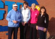 Grantham Tennis Club's veteran ladies.