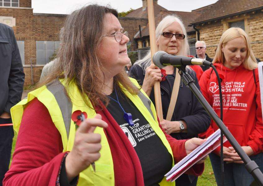 Protest march through Grantham to highlight the closure of the A and E Department at Grantham Hospital Charmaine Morgan