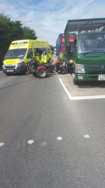 Trike accident on Sankt Augustin Way.