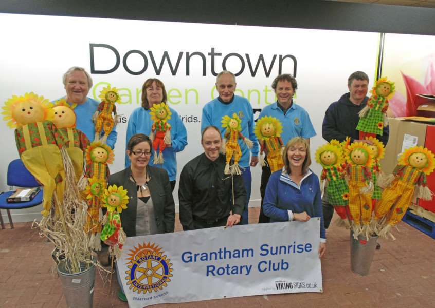 Grantham Sunrise Rotary Club launch their Sunflower Challenge.