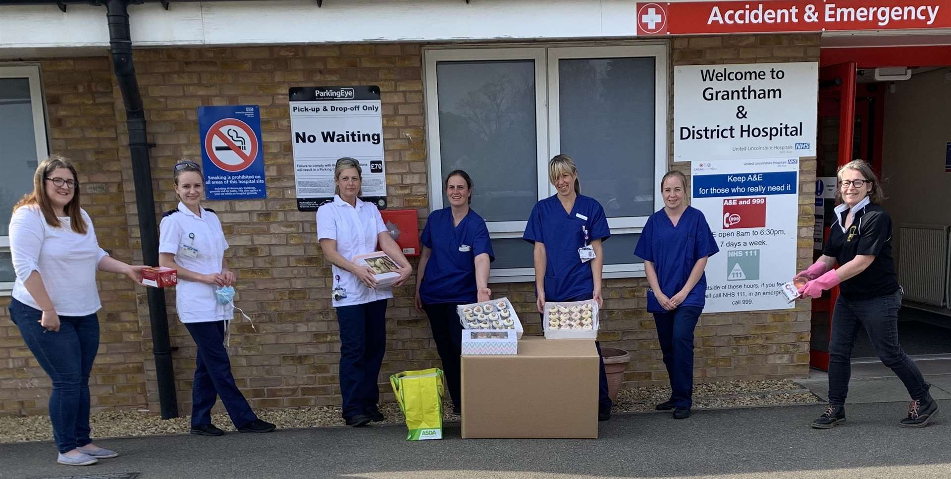 Kesteven Ladies delivered easter eggs to Grantham A&E on Good Friday (33564147)