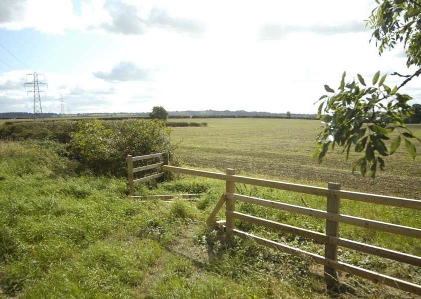 Land at Manthorpe where Allison Homes wants to build 550 houses.