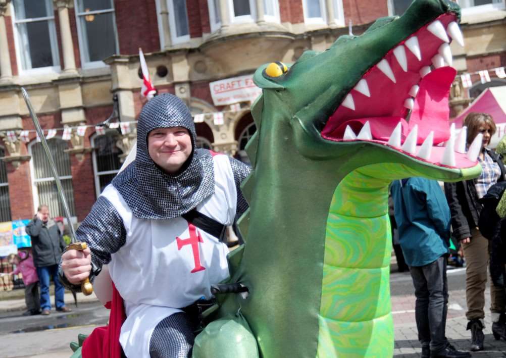 St George on his dragon.