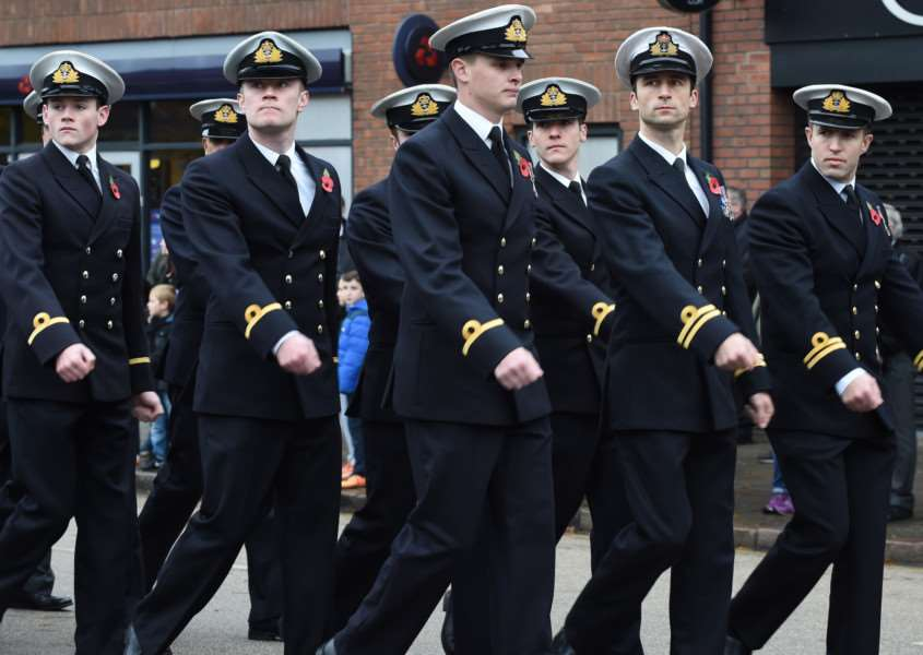 Remembrance Day Parade passes through Grantham on Sunday, November 8, 2015.
