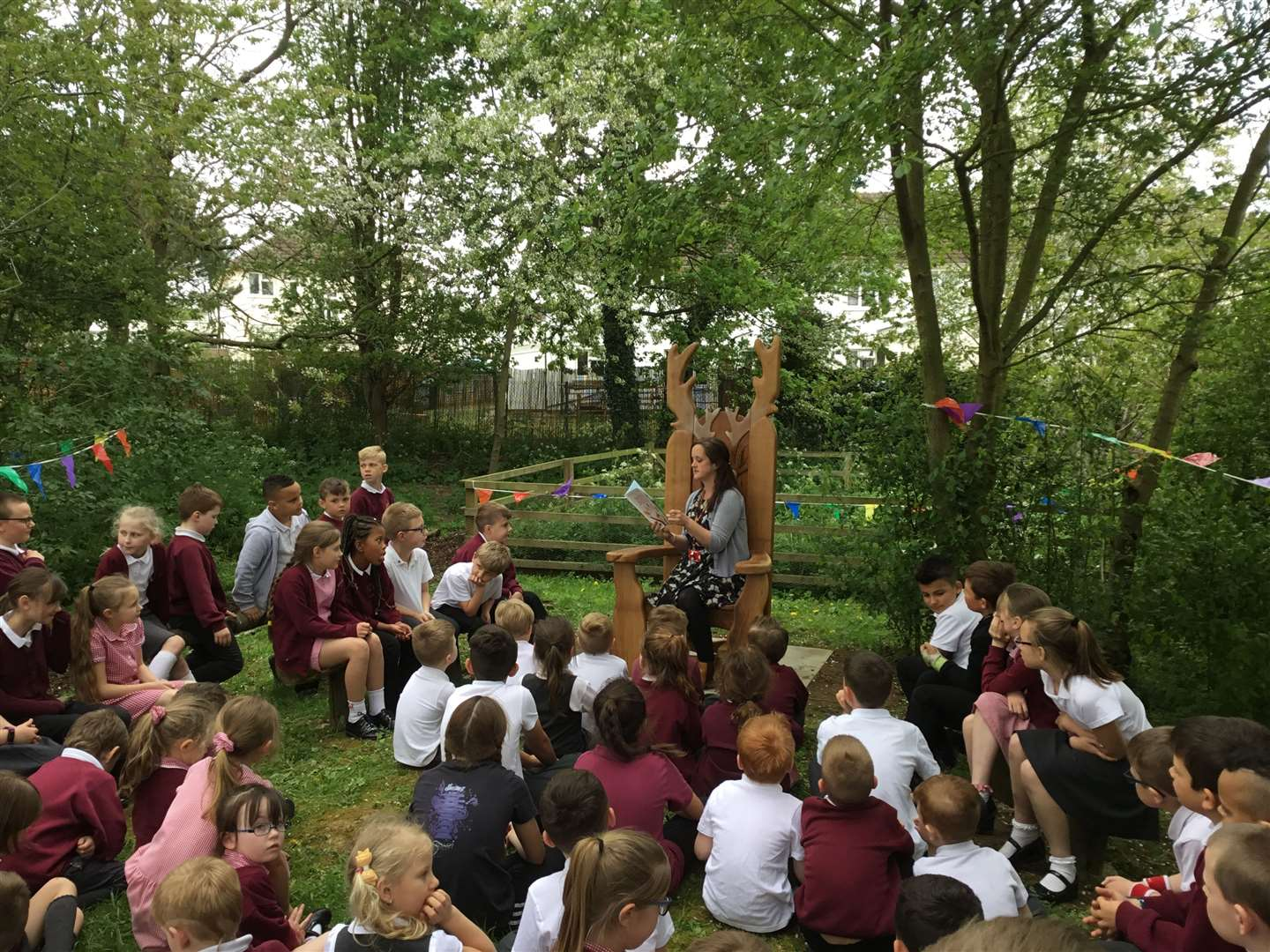 The new story telling chair at Belmont Primary. (10829557)