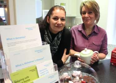 Joanna Smith and Yvonne Taylor from Alzheimer's Society, are running the new cafe.