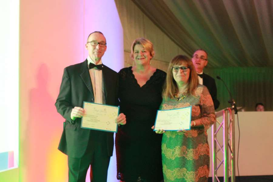 ULHT awards: Great leadership Award - from left, highly commended Grantham portering section leader Andy McDowall with director of nursing Michelle Rhodes and deputy chief nurse Jennie Negus.