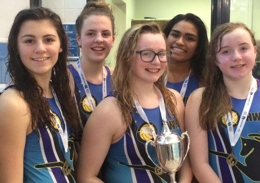 KGGS water polo quintet.