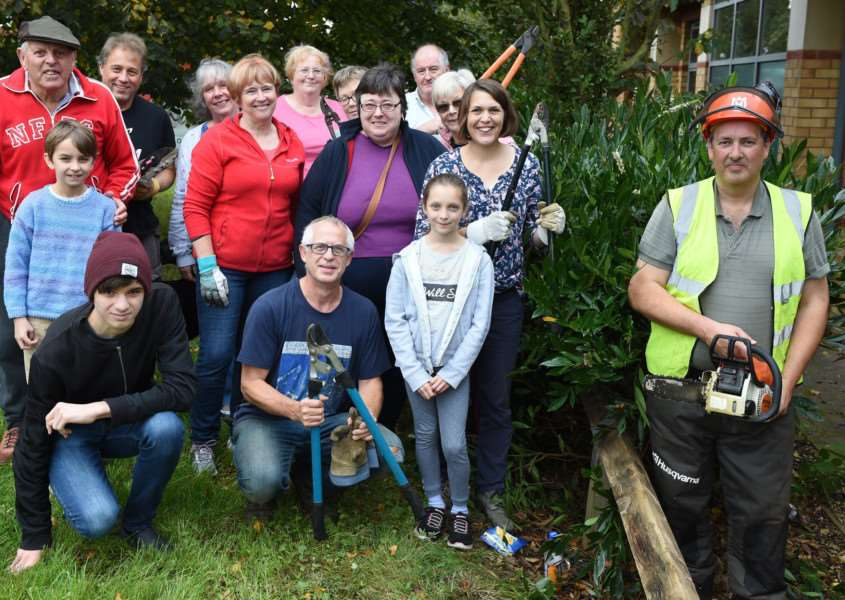 Green fingered volunteers from Harrowby Lane Methodist Church and Community Centre spent Saturday sprucing up the garden area.