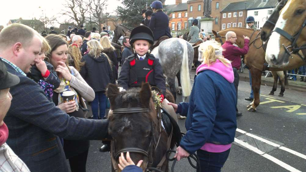 Riders of all ages were represented when the Belvoir Hunt came to Grantham on Boxing Day.