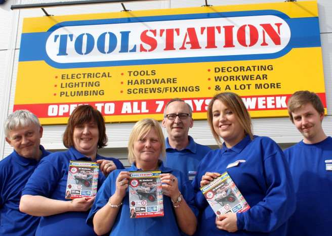 The Toolstation team in Grantham.