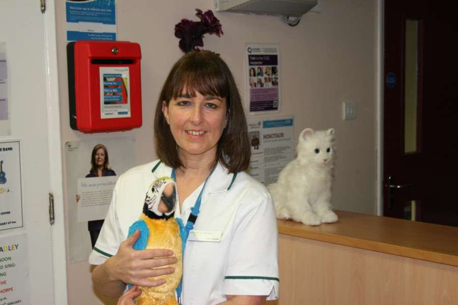 Occupational Therapist Liz Lester was the innovative mind to bring the robotic animals onto the dementia ward at Manthorpe Centre in Grantham.