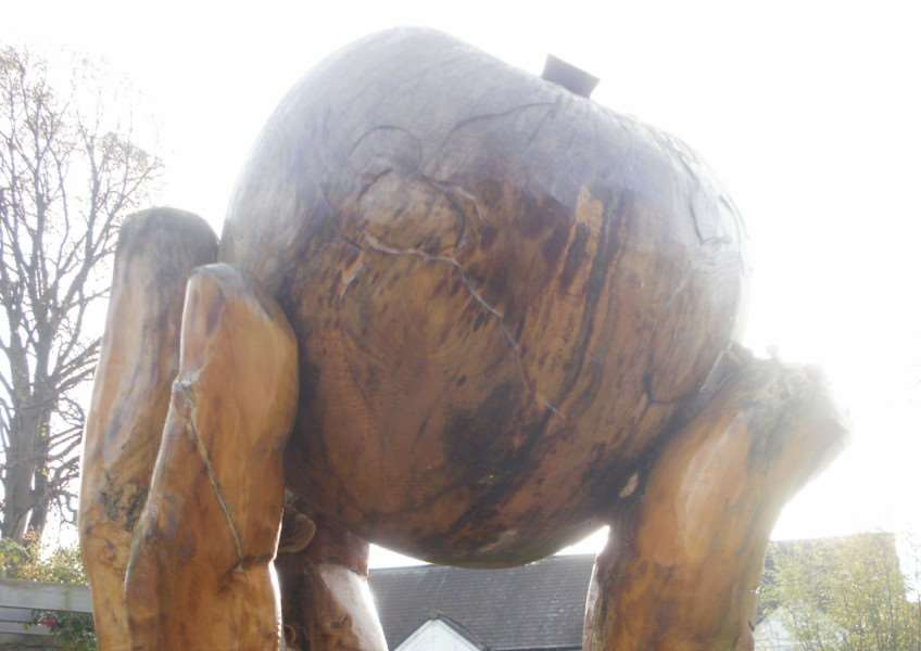 The Isaac apple sculpture in Wyndham Park sensory garden is showing signs of rotting away.