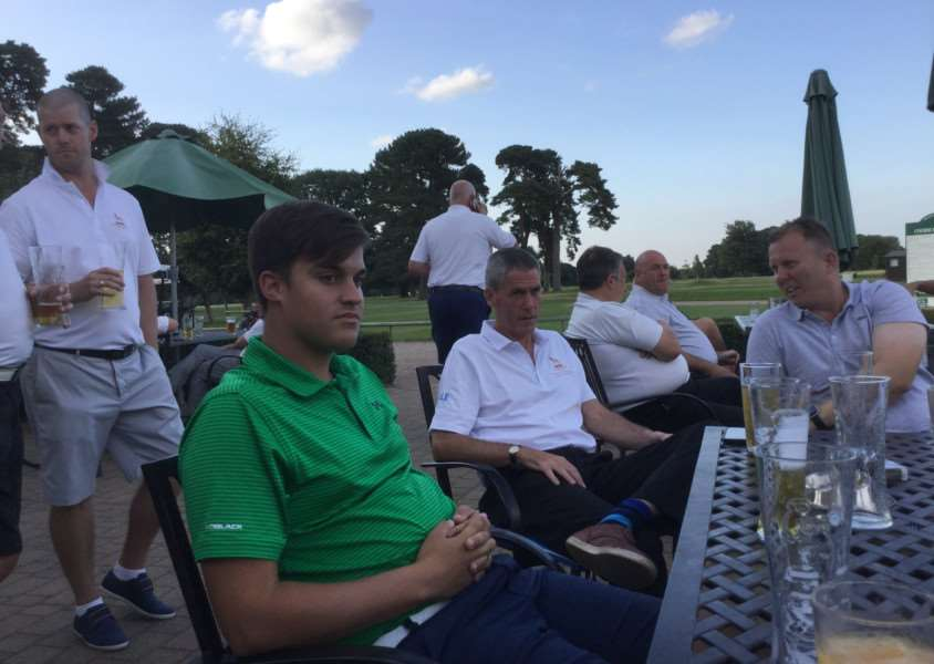 Pictured are some of the Belton Park A Team relaxing after their final match victory against Sleaford.