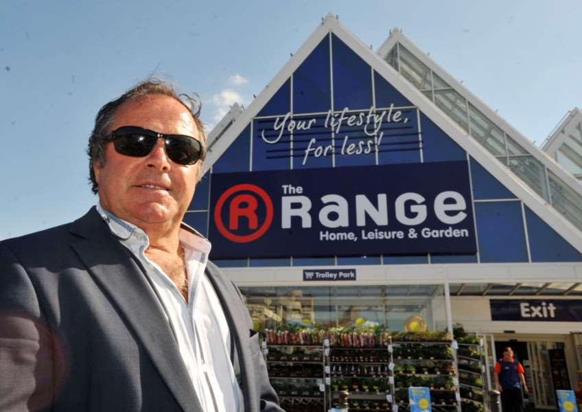 The Range owner Chris Dawson outside one of his stores. ENGPNL00320130815095906