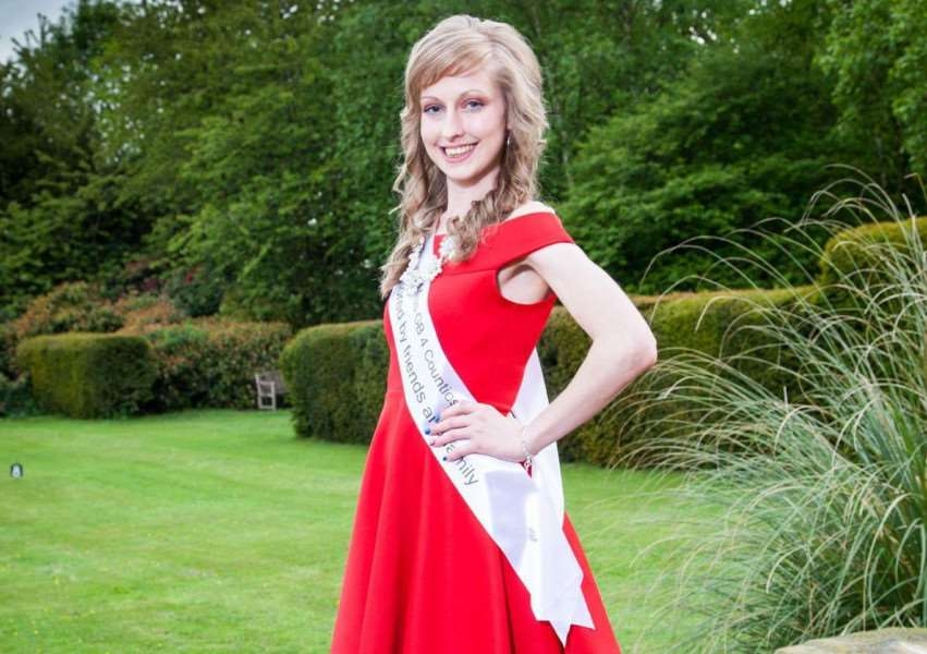 Kayleigh Mansfield won Miss Publicity at the Miss GB 4 Counties competition at Melton. Photo: Rutland Photographic