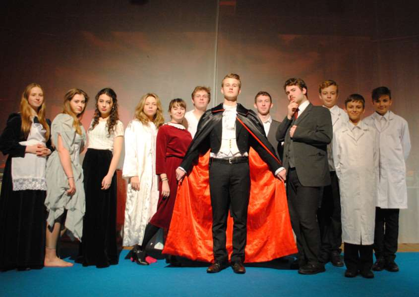 The cast of Dracula to be staged at the King's School.