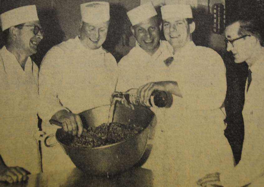 Memory Lane: Grantham Hospital's catering staff making Christmas pudding in 1965.