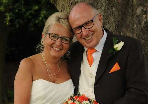 Wedding: Yvonne Eldred and Clive Selby. Photo: Kevin Turton
